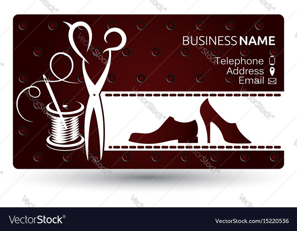 Business Card Repair Shoe Vector Image