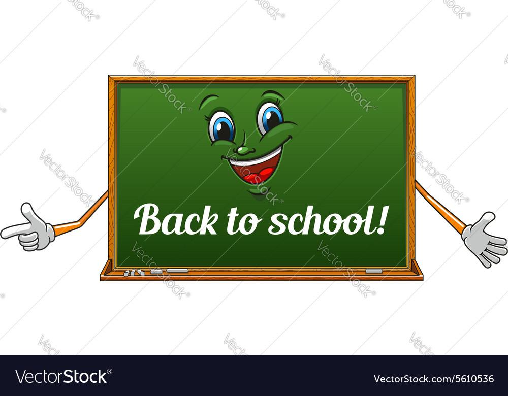 Cartoon isolated school blackboard icon vector image