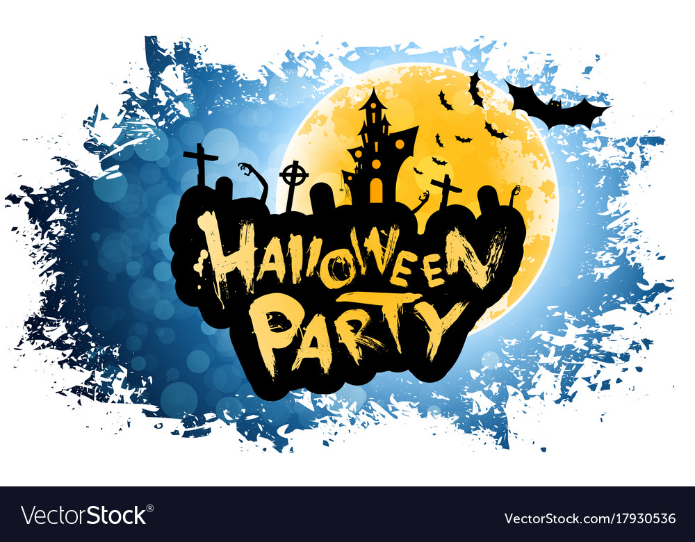 Grungy halloween party poster