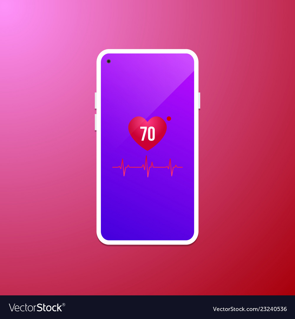 Heart rate at mobile screen