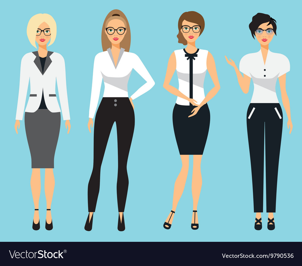 Set of business clothes for women Woman in office