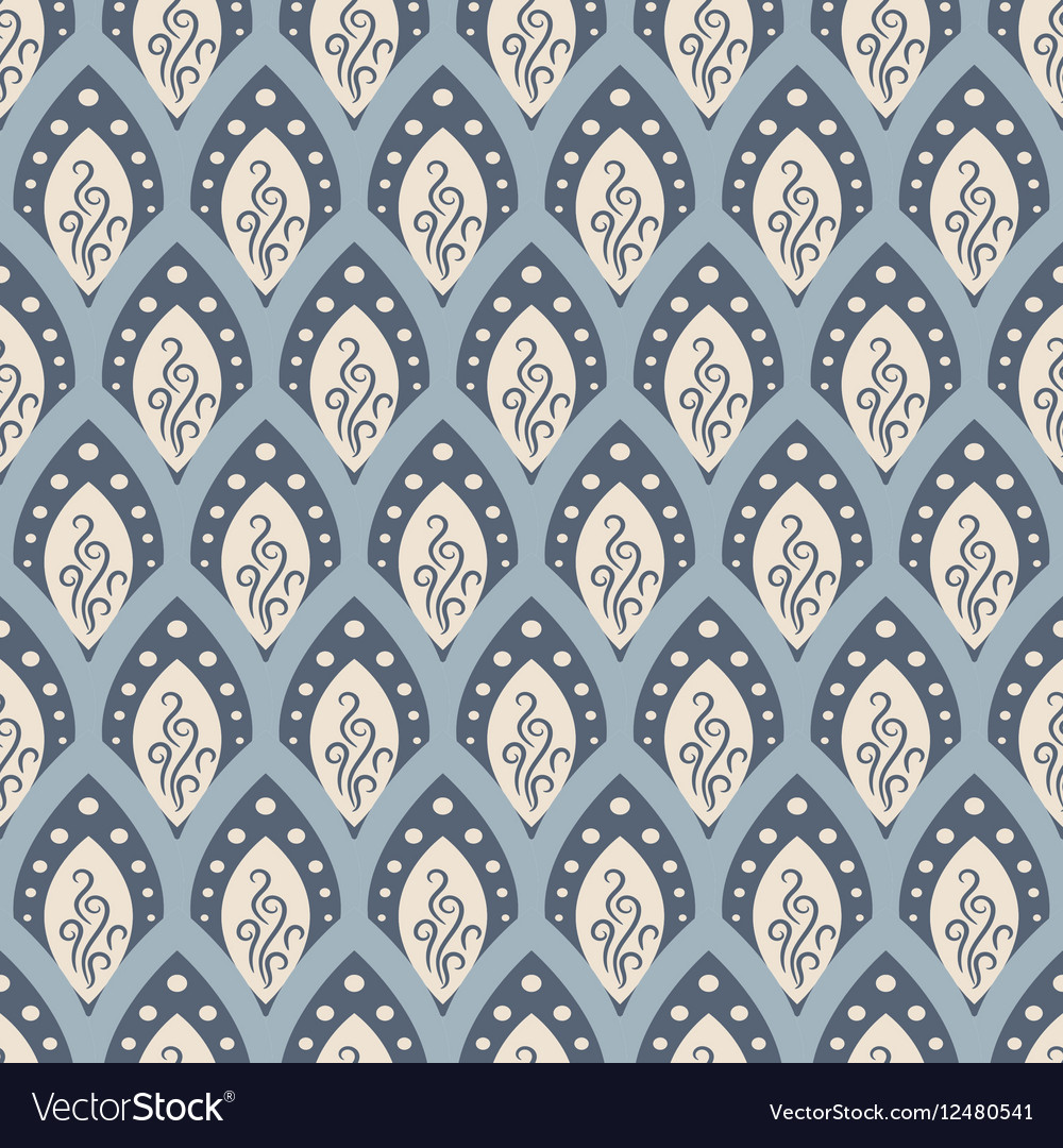 Abstract fish scale pattern in oriental style vector image