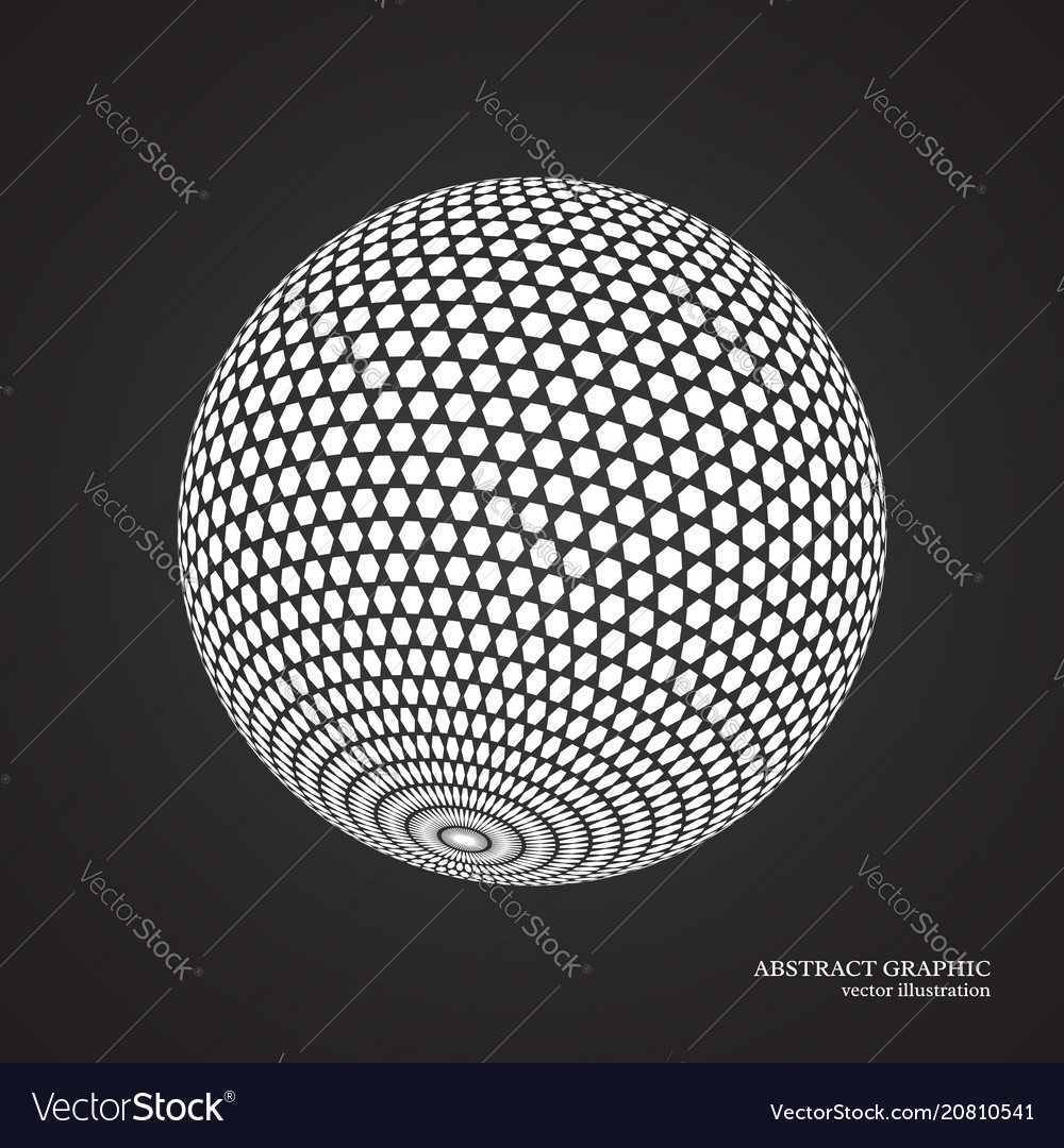 Abstract globe dotted sphere 3d dot effect white