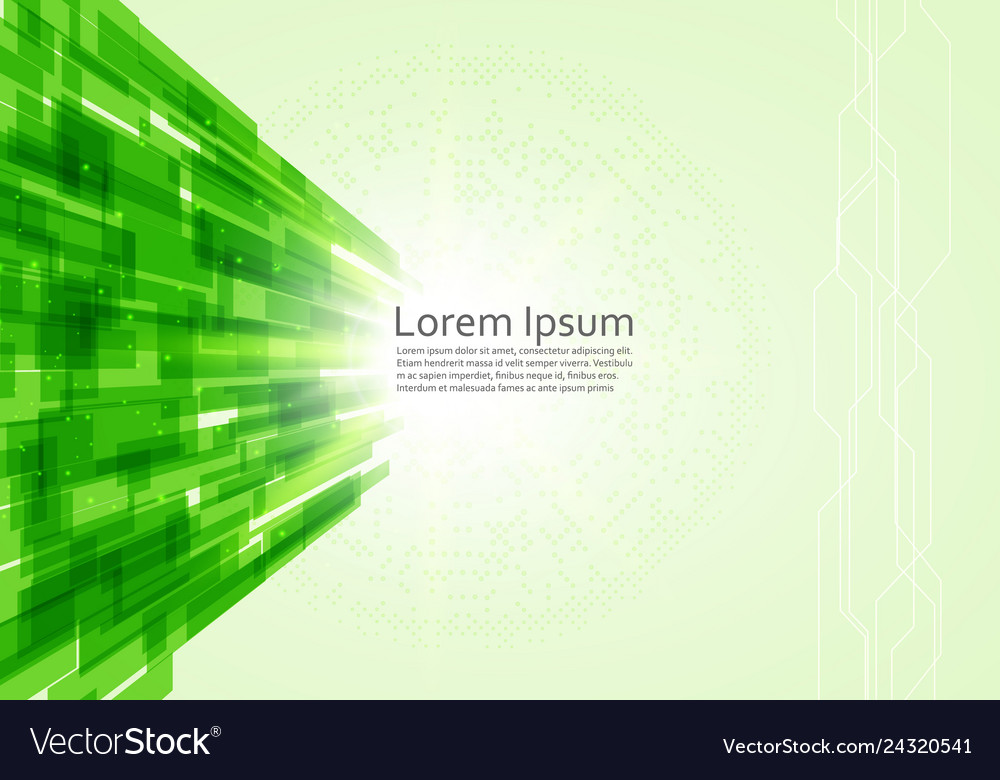 Abstract green technology lines background