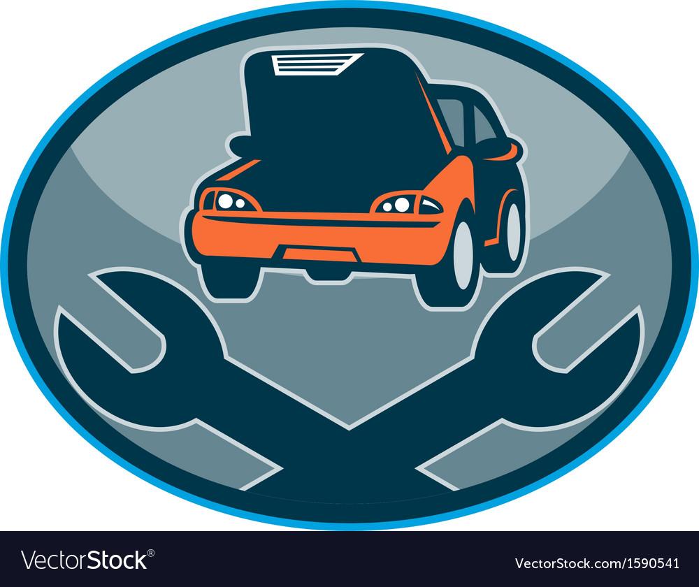 Automobile car breakdown mechanical repair vector image