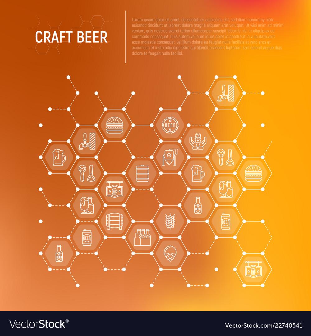 Craft beer concept in honeycombs