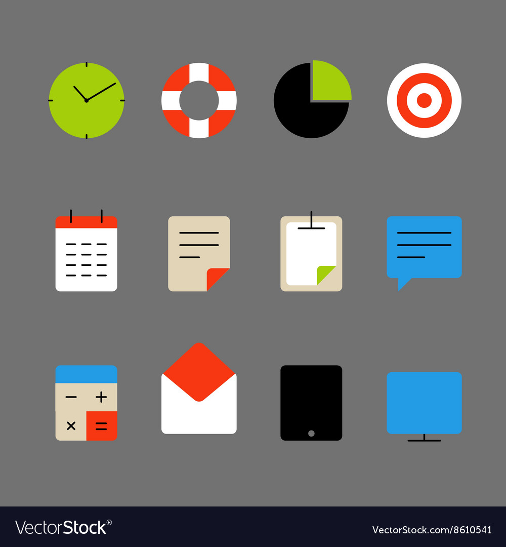 Different color thin web icons set Lineart design vector image