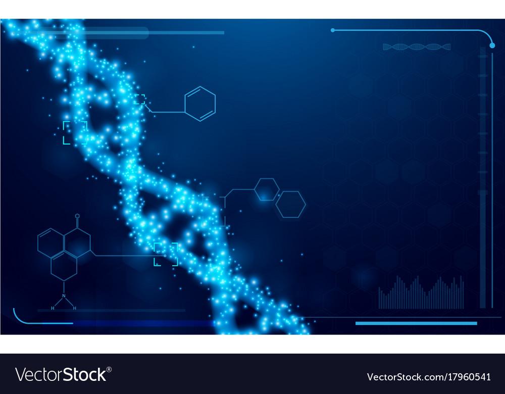 Dna and molecules interface virtual future