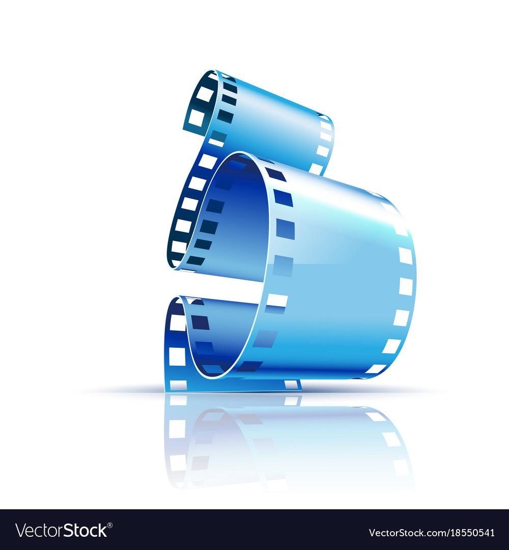 Film on white background