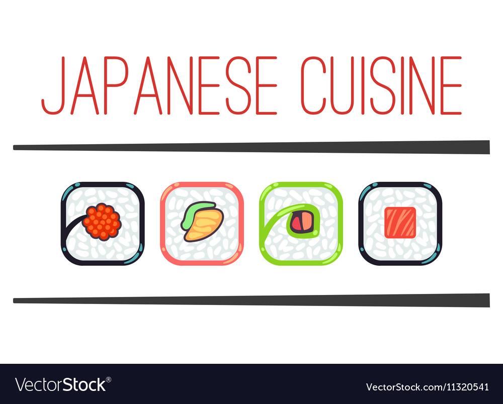 Japanese cuisine restaurant logo template
