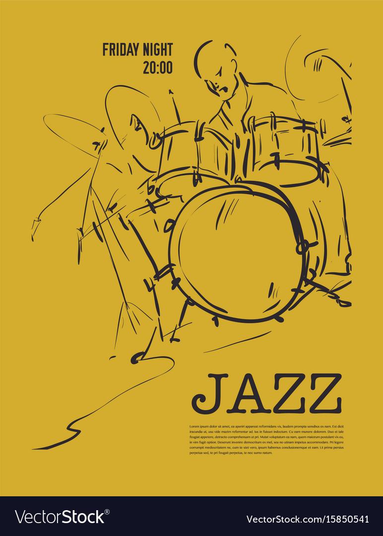 Jazz music party invitation design royalty free vector image jazz music party invitation design vector image stopboris Choice Image