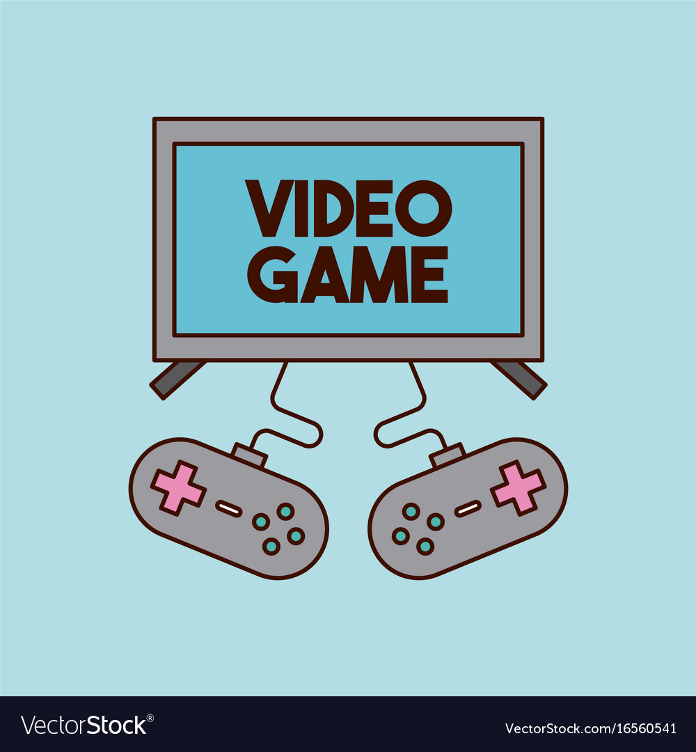 Video games classic console vector image on VectorStock