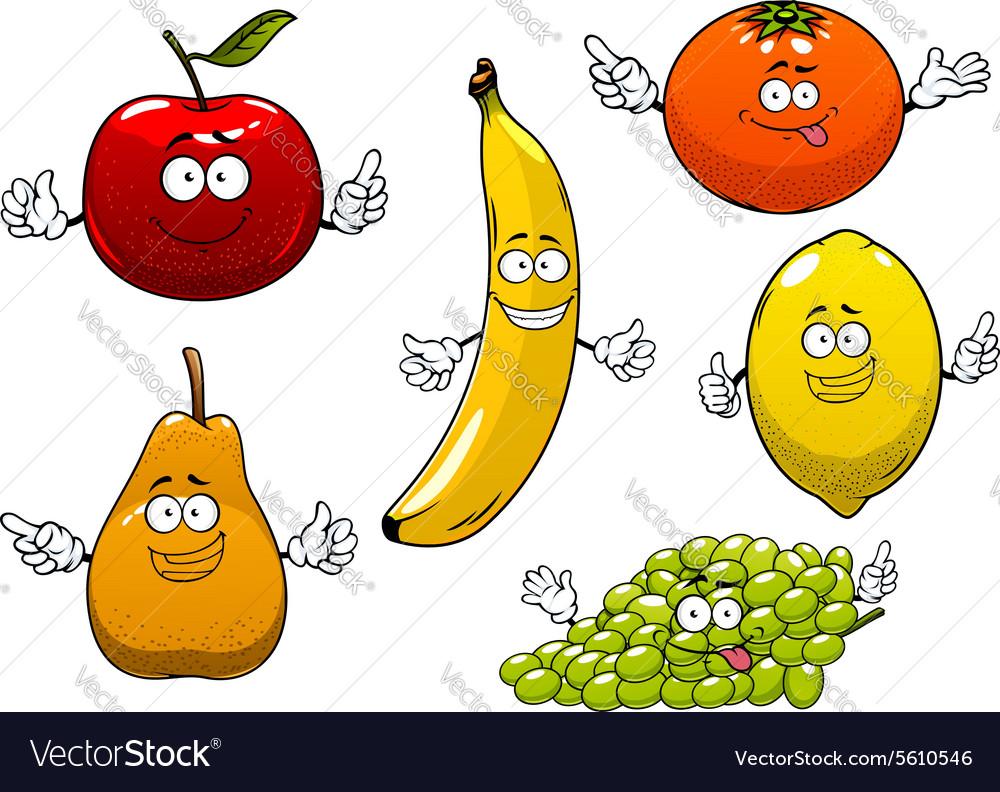 Apple pear banana orange grape and lemon