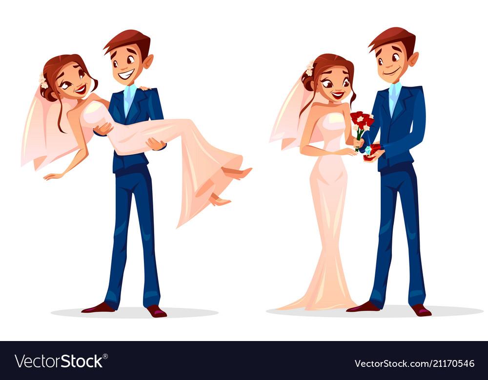 Couple wedding bride and bridegroom