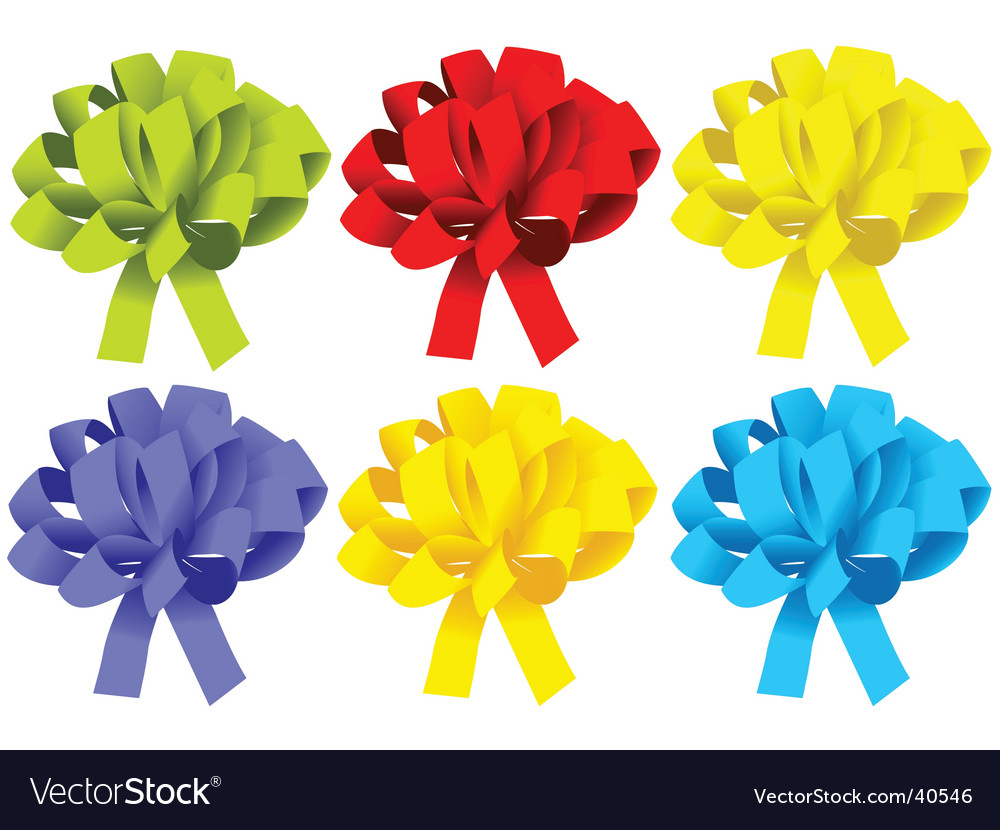 Gift Box Ribbon Royalty Free Vector Image Vectorstock
