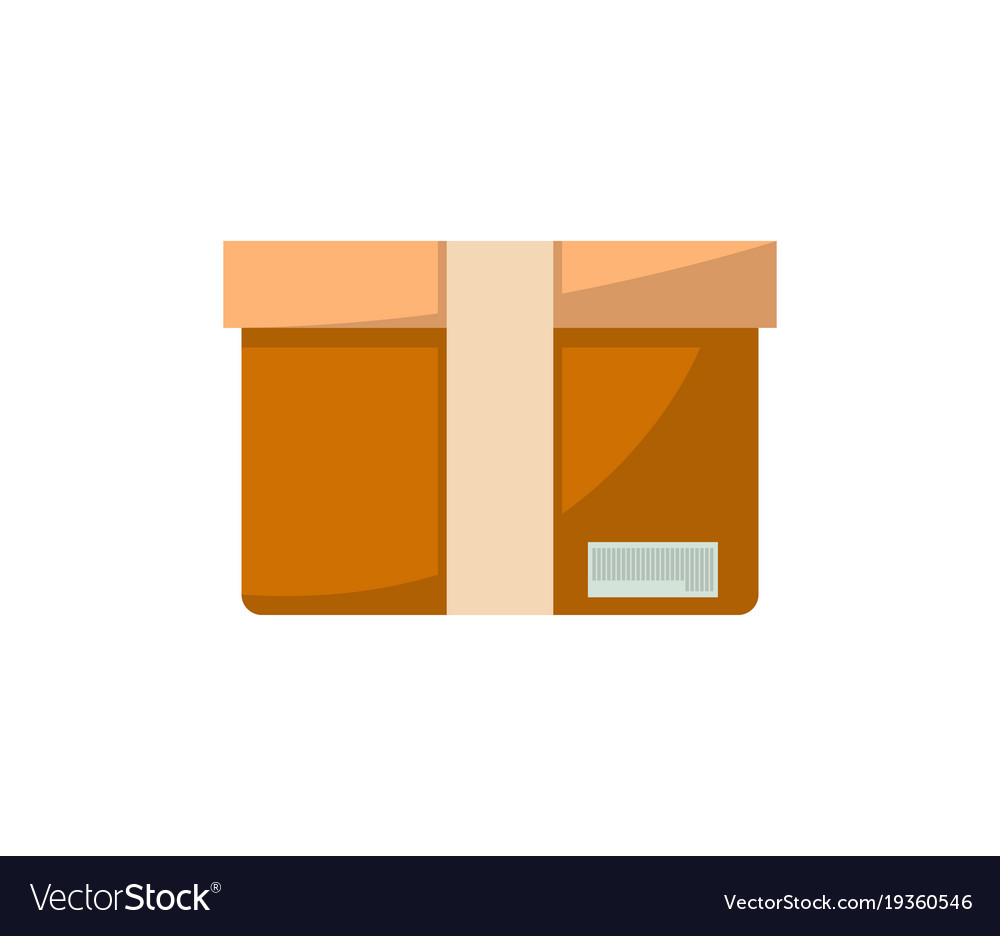 Packing box isolated icon in flat style