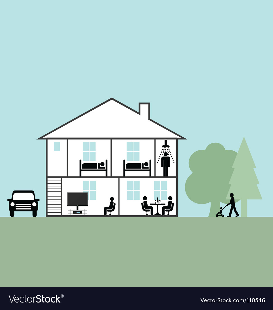 Residential home vector image
