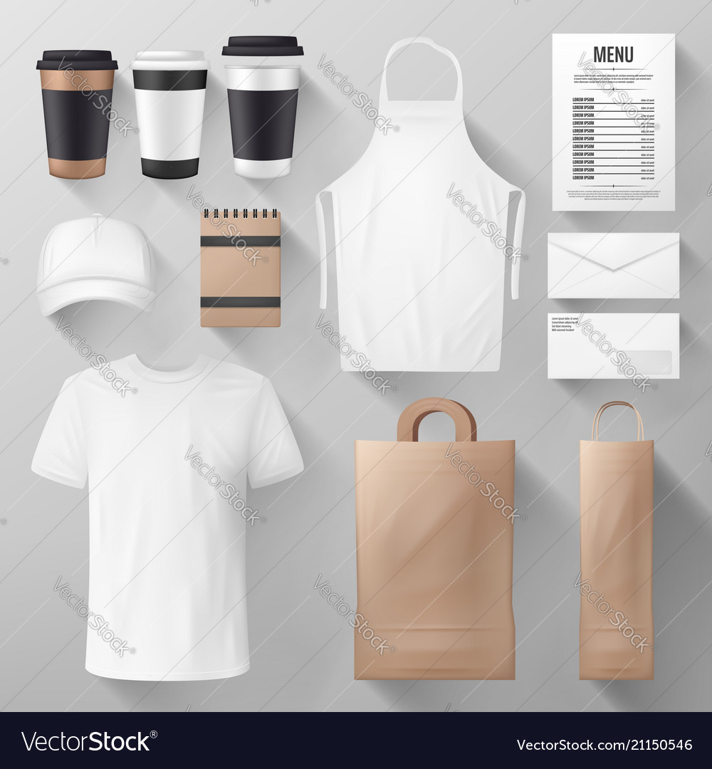 Restaurant And Cafe Corporate Identity Template Vector Image