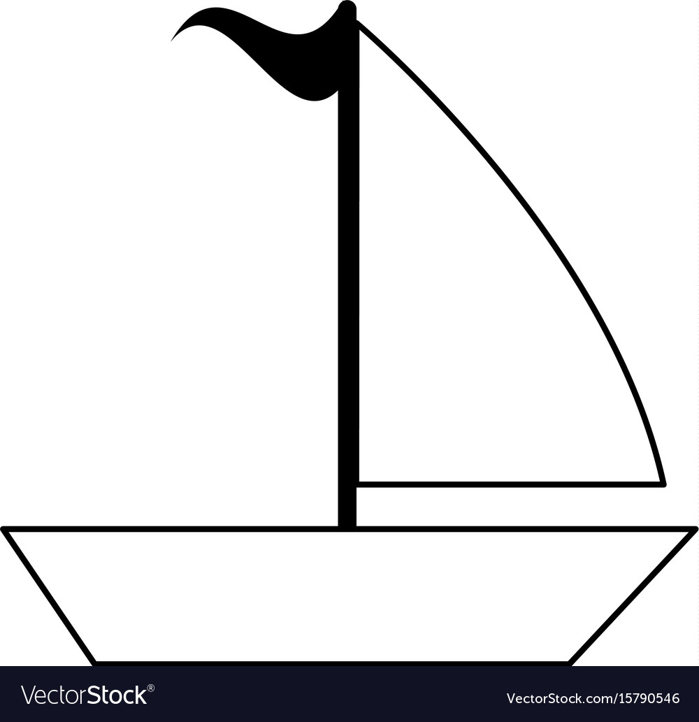 Sailboat with flag icon image vector image