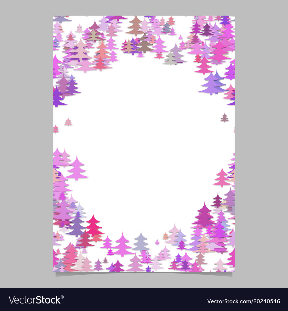 Seasonal christmas design page template - blank