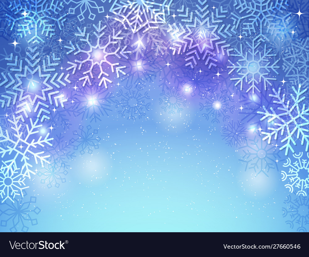 Snowflakes background holiday christmas greeting