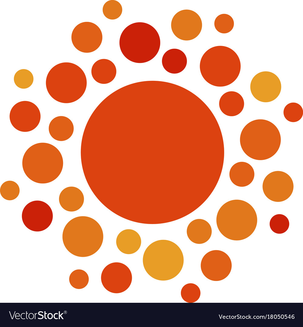 Sun orange color abstract simple icon rounded