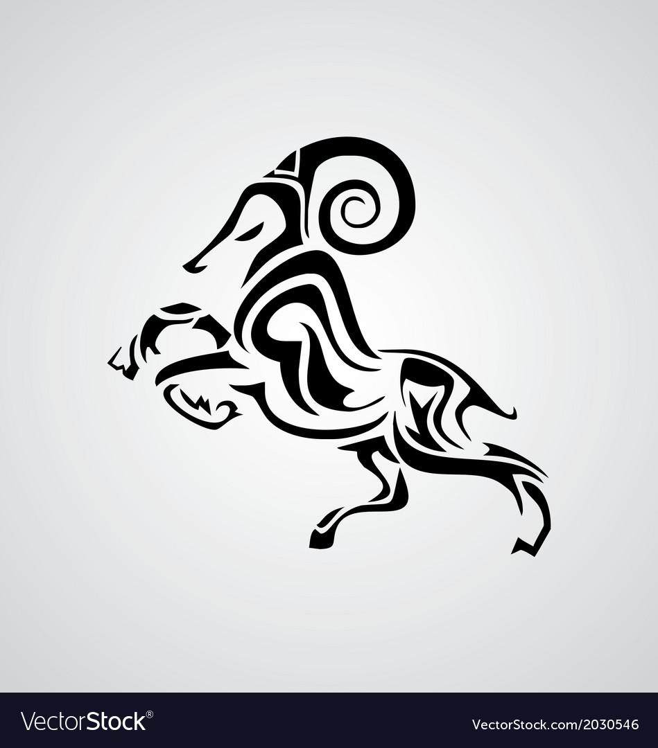 Tribal Aries vector image