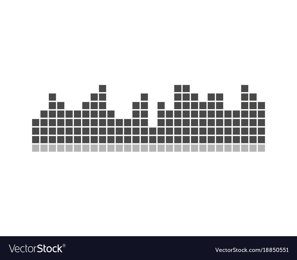 Black and grey chart icon