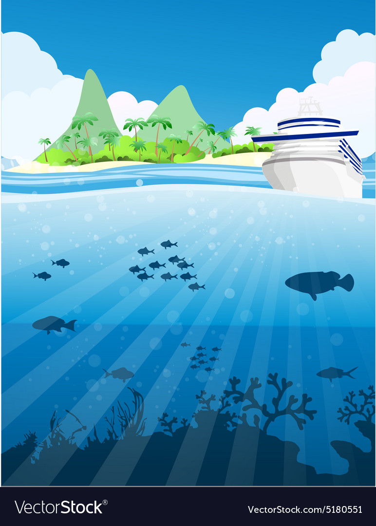 Fishes under the sea vector image