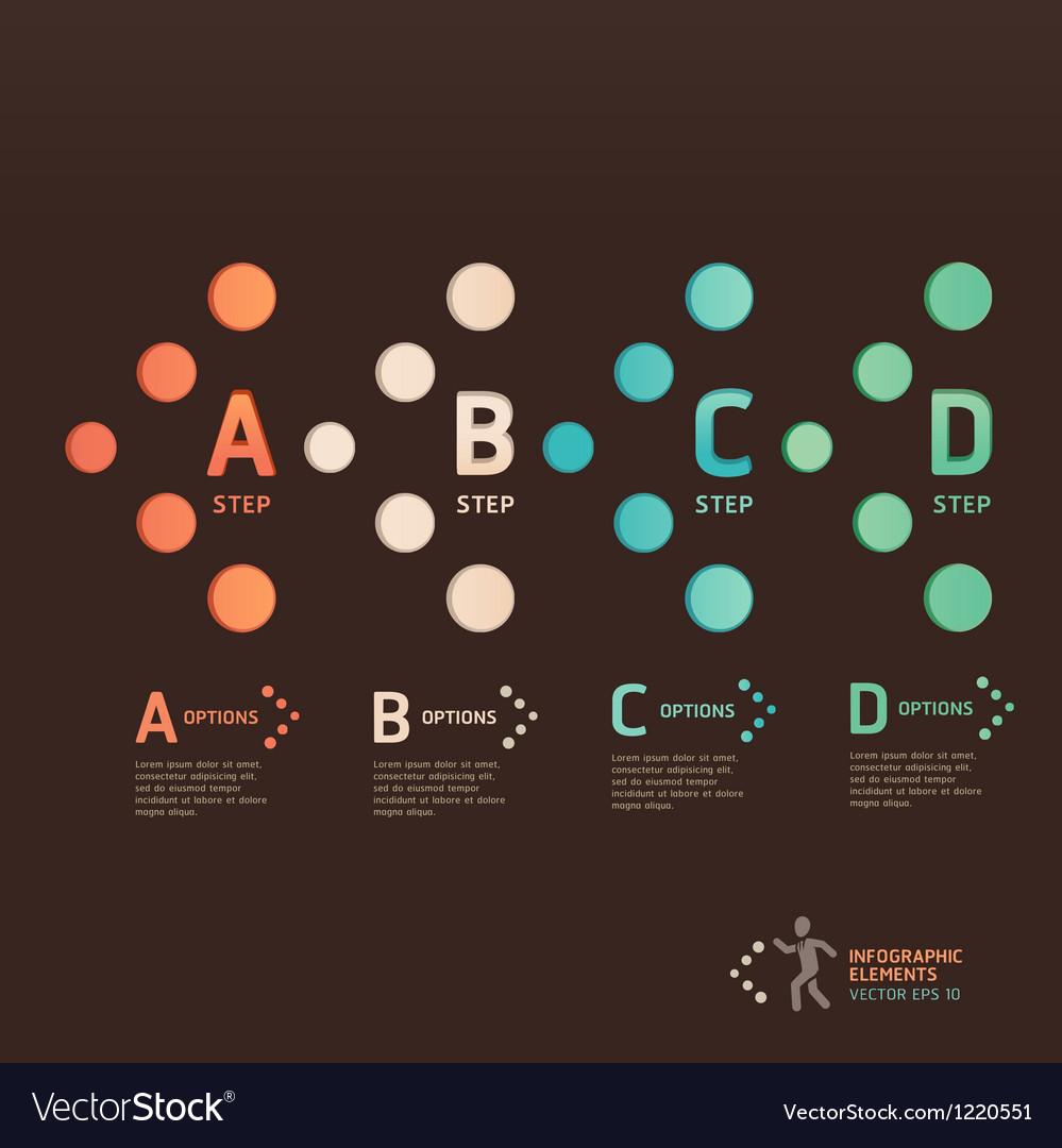 Modern dot arrow infographics vector image