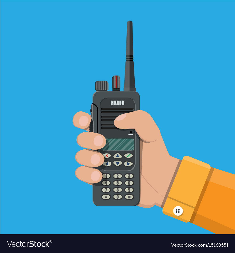 Modern portable handheld radio device vector image