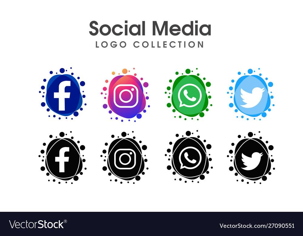 Social media logo icon collection