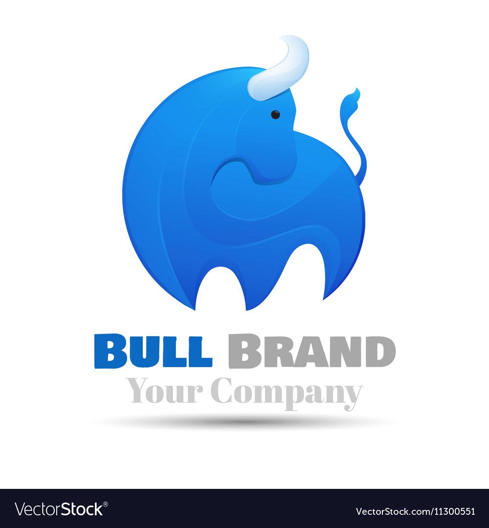 Standing bull Logo design Template for your