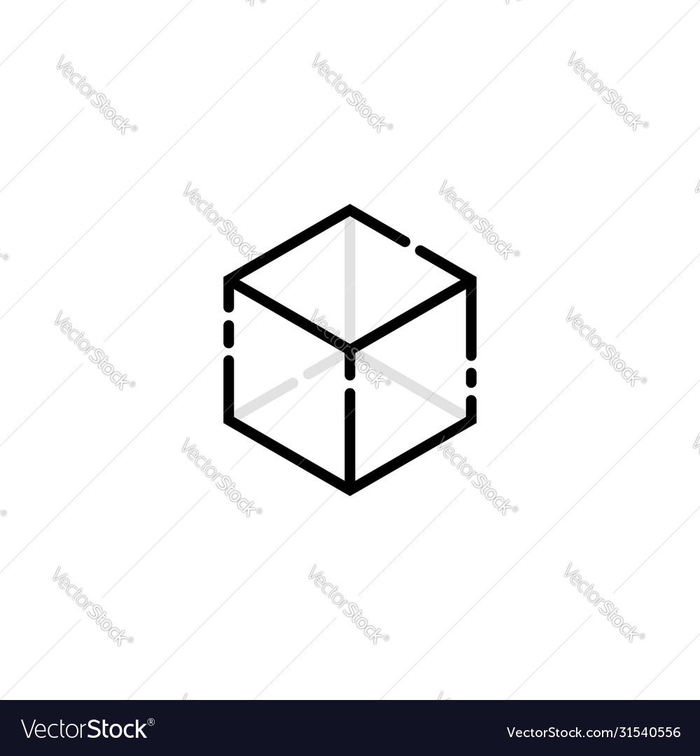Abstract cube logo isolated on white