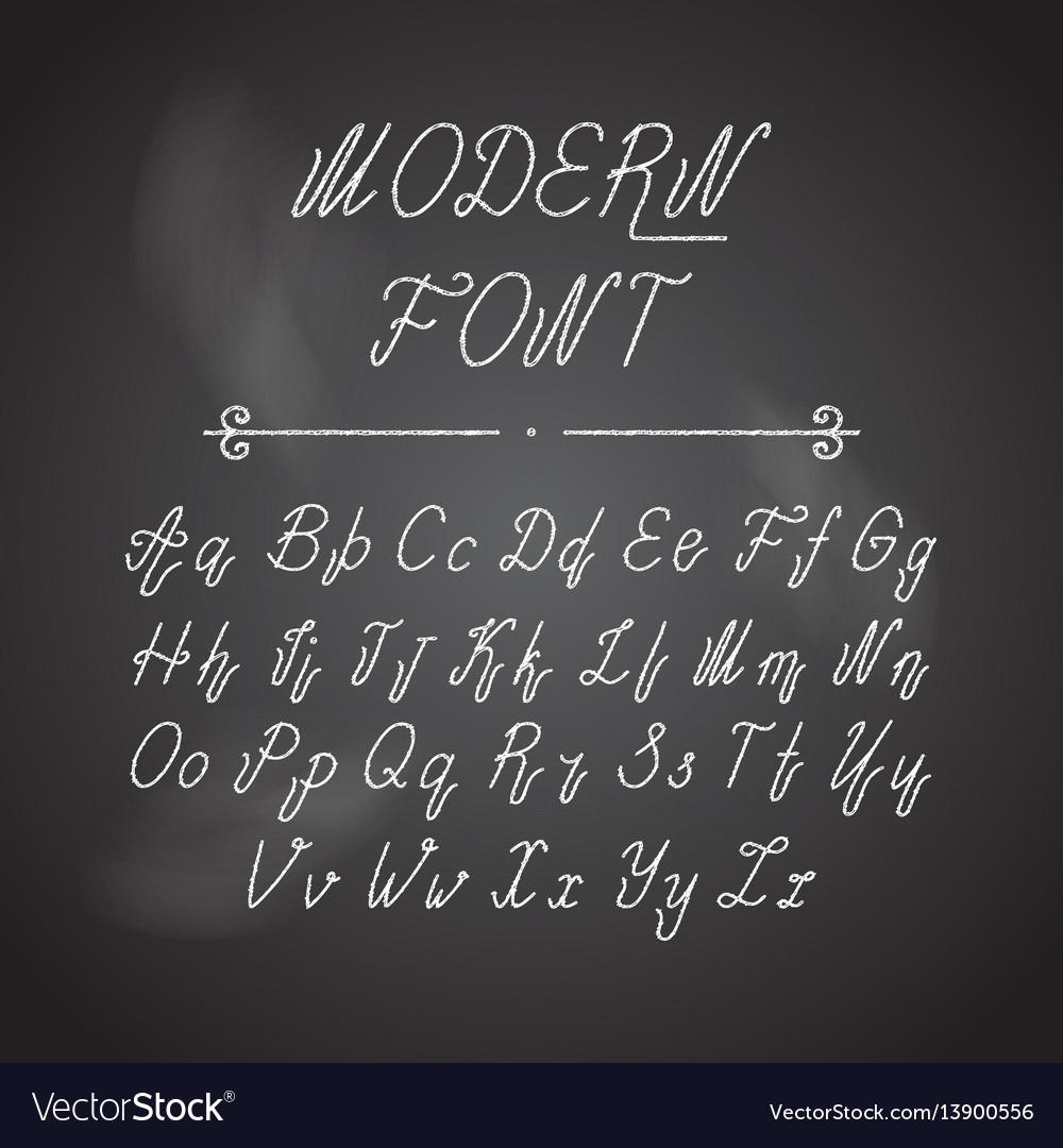 Handwritten lettering font alphabet