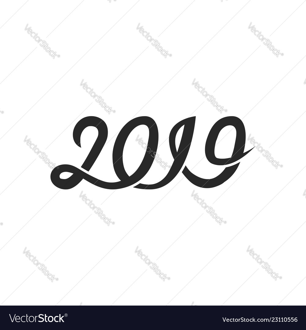 New year 2019 greeting card cover banner with