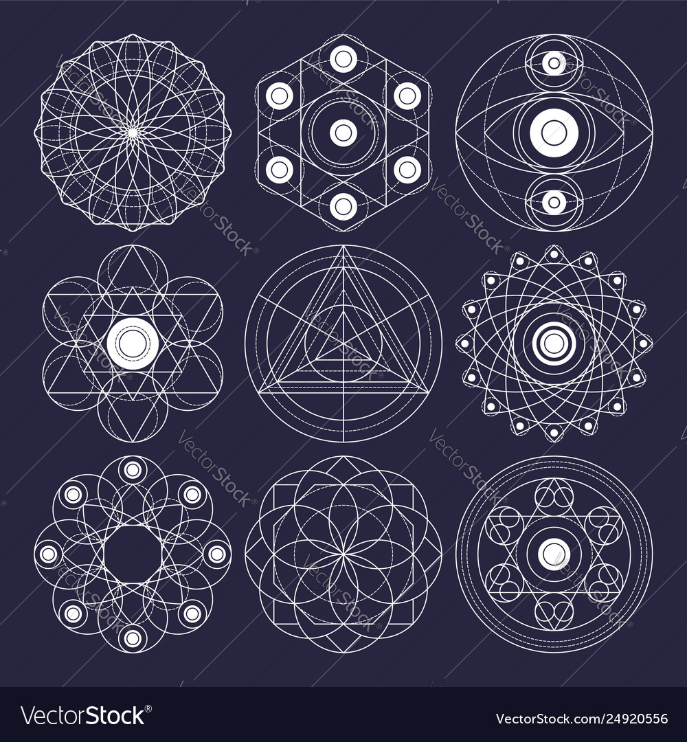 Sacred geometry design elements non expanded