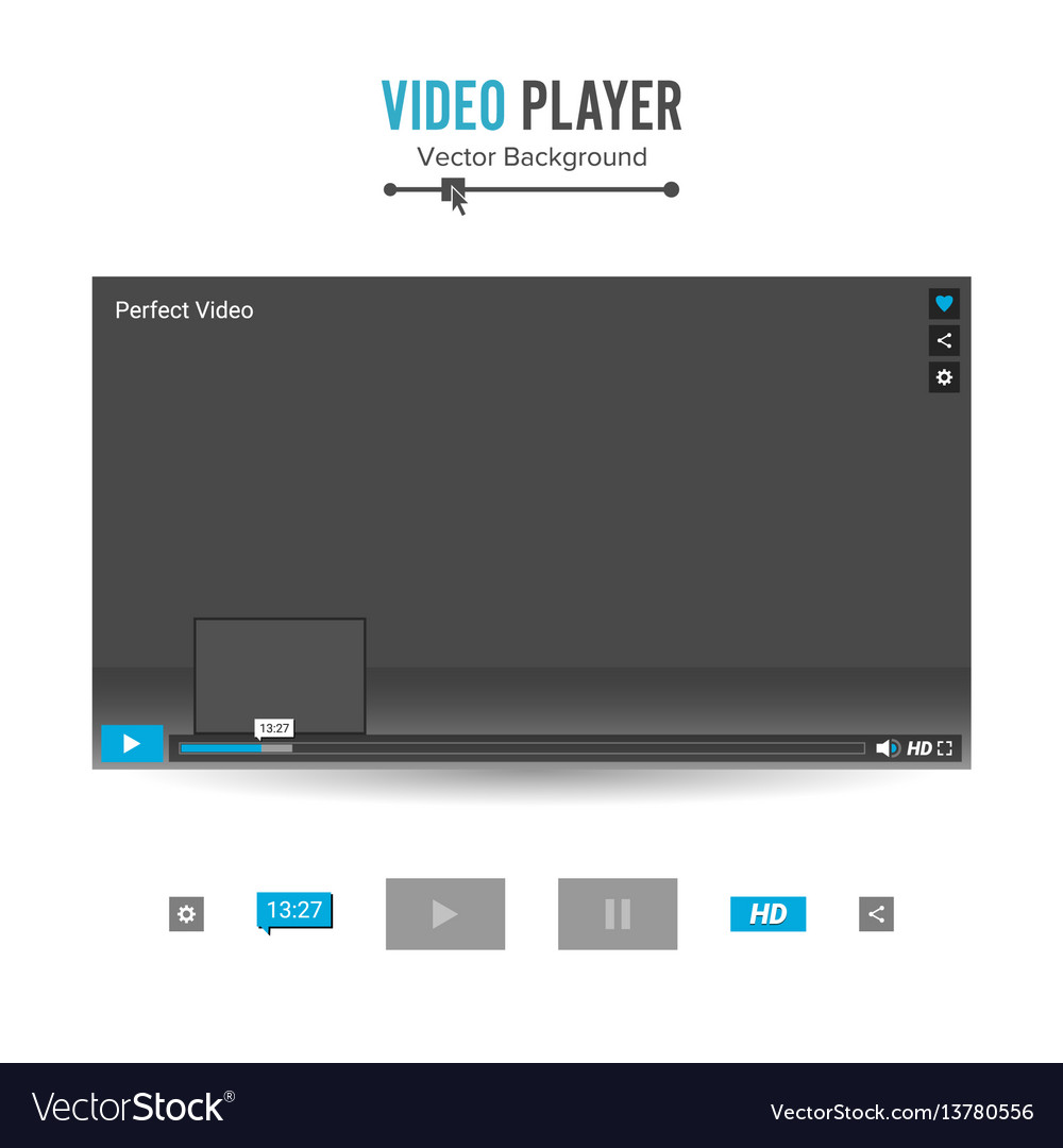 Video player interface template with