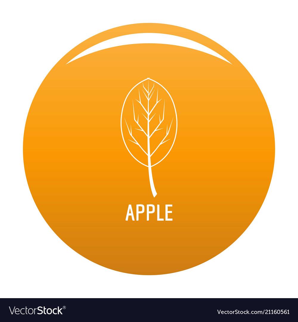 Apple leaf icon orange