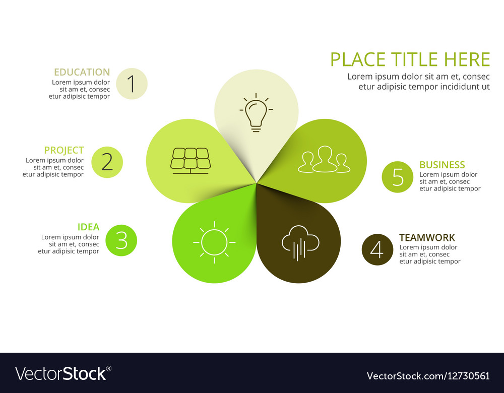 Circle arrows green leaves eco infographic