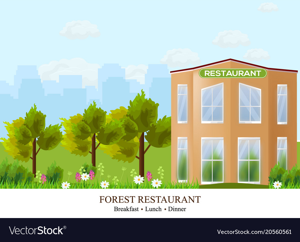 Facade restaurant architecture beautiful