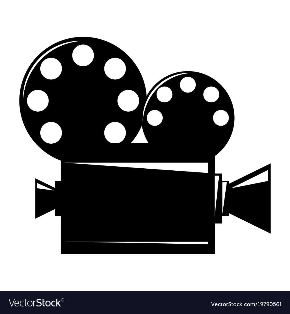 film projector cinema camera icon royalty free vector image