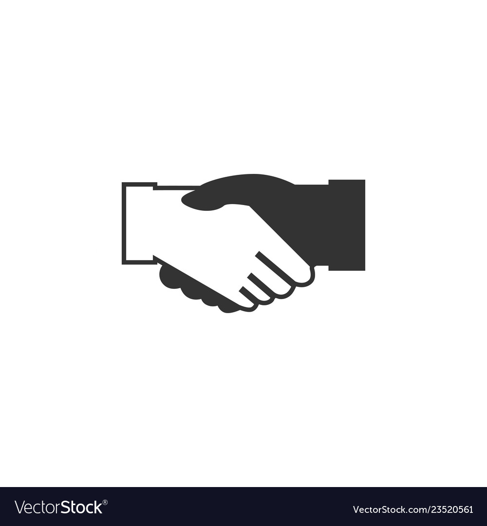Handshake icon graphic design template