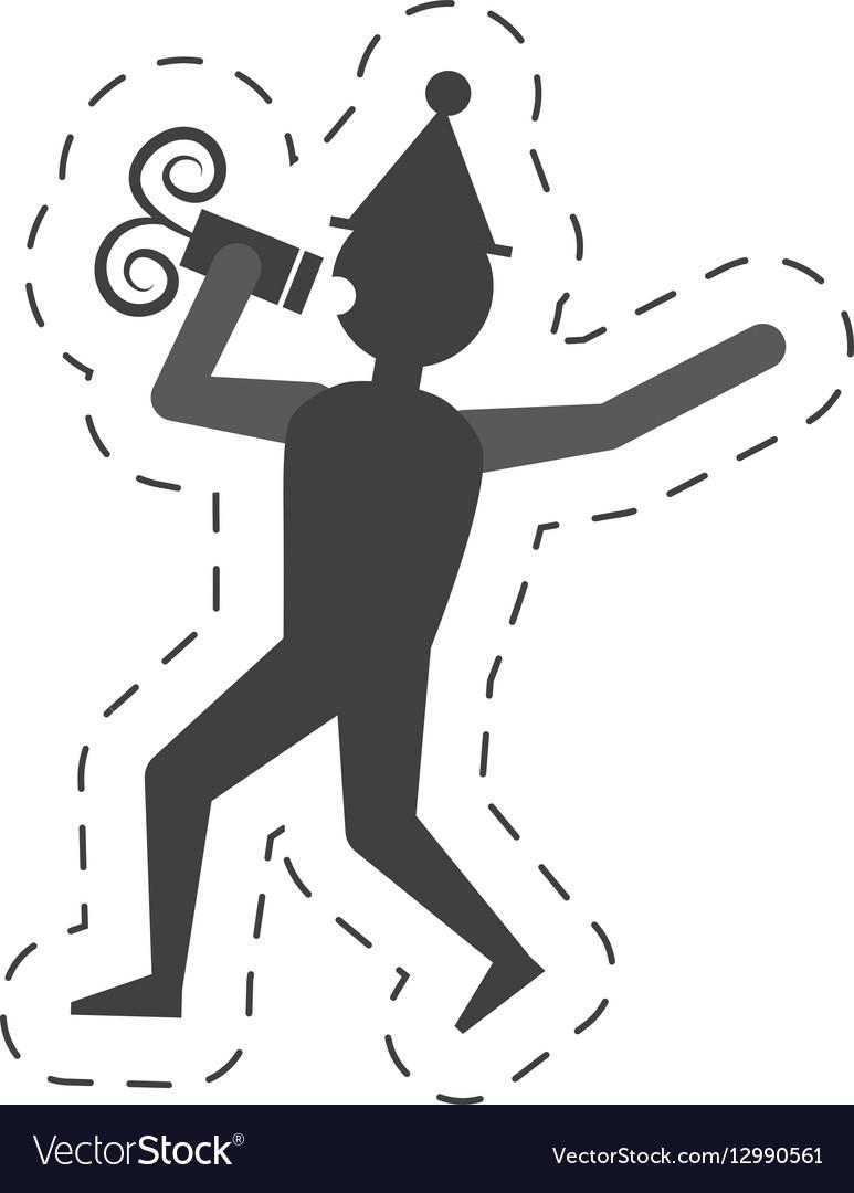Man drink wine icon design