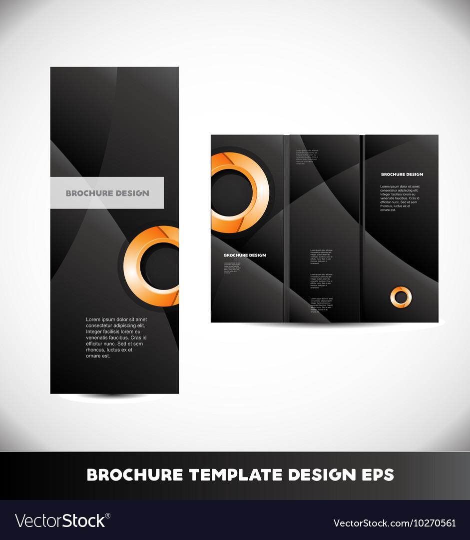 Orange Circle Black Brochure Layout Royalty Free Vector