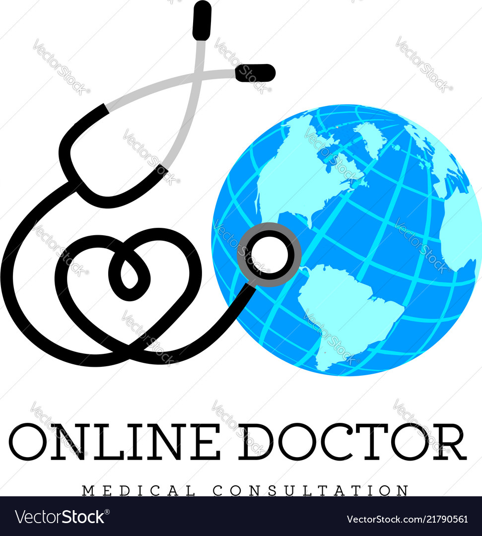 Sign in the form of a stethoscope in the shape of