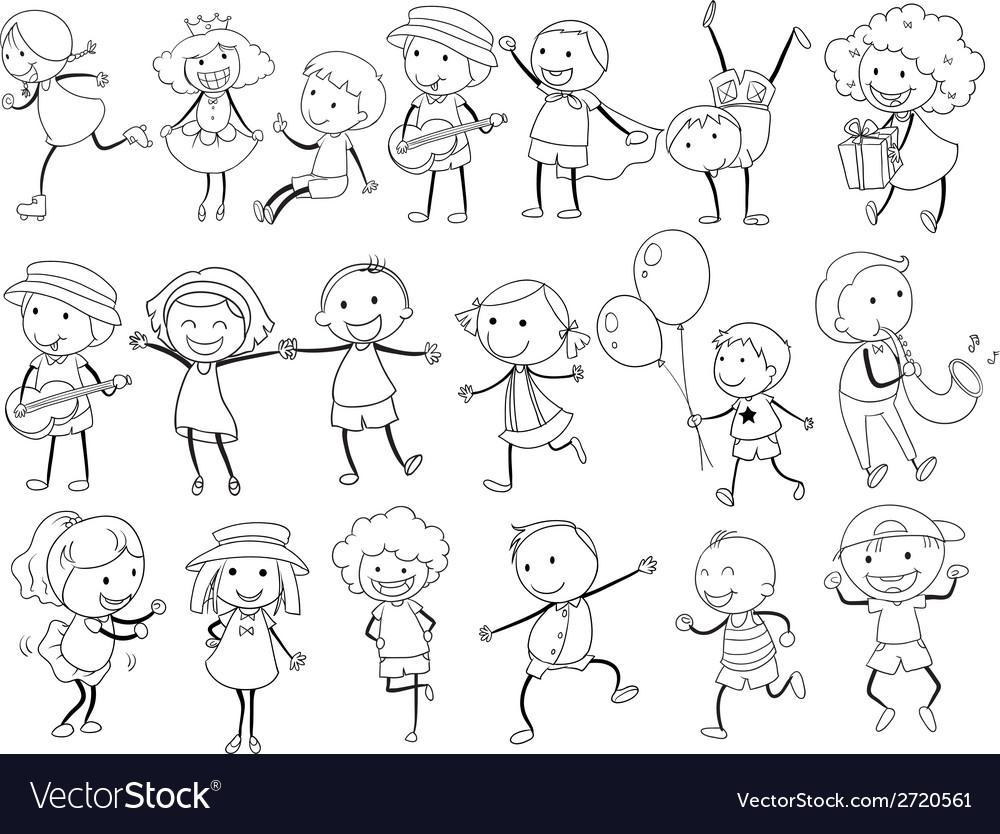 Simple kids doodle