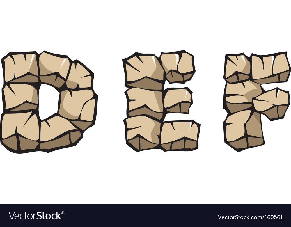 Stone alphabet def vector image