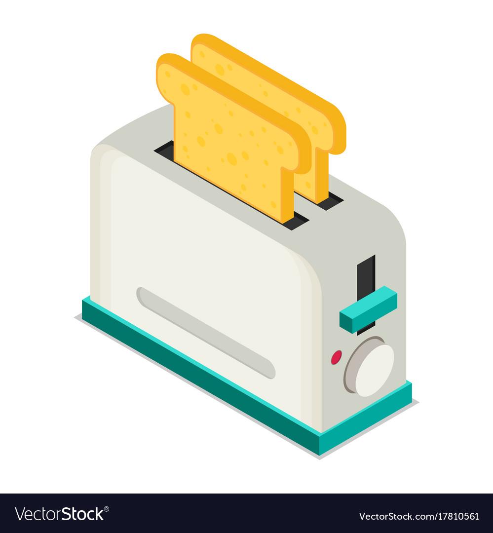 Toaster flat icon