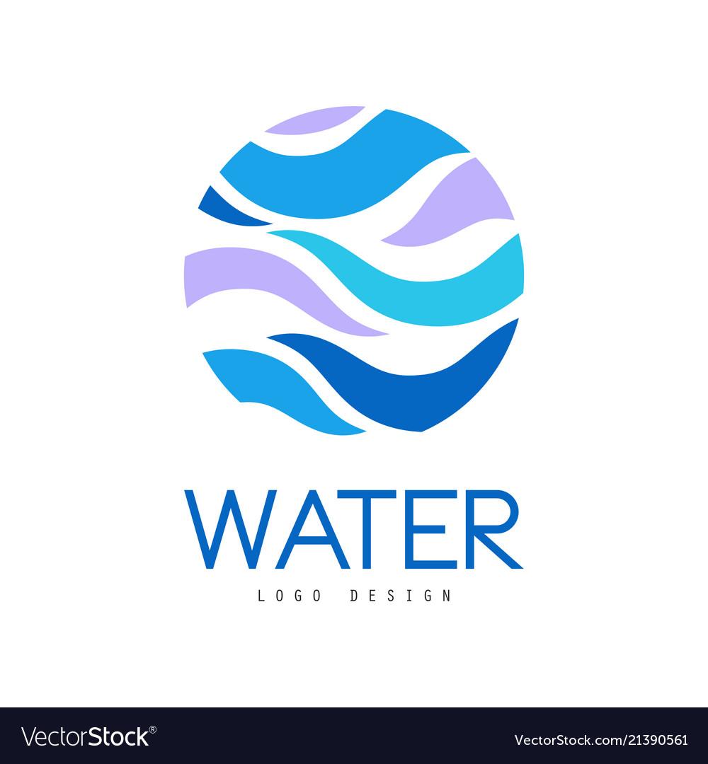 Water logo design corporate identity template